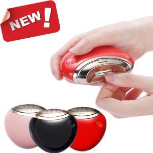 電動爪切り 自動爪切り 爪磨き 爪ケア USB充電式 二段階スピード コンパクト 安心/安全 電動爪切り 日本語取扱書付き (レッド)