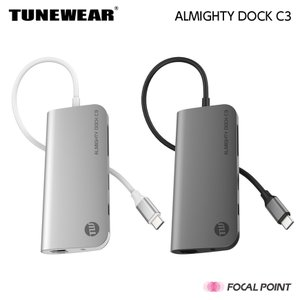USBハブ TUNEWEAR ALMIGHTY DOCK C3 Ethernet HDMI 4K M...