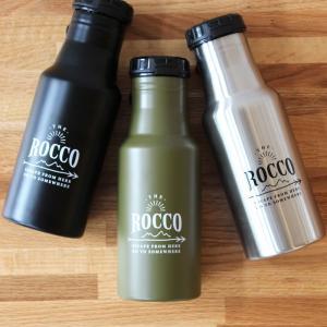 ROCCO ロッコ ワンタッチボトル ステンレス 直飲み水筒 500ml 水筒 保冷 保温 マイボトル fofoca