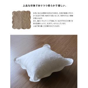 クッションカバー 45×45cm 水洗いキルト 北欧 おしゃれ 刺繍 上品 ナチュラル|fofoca|03