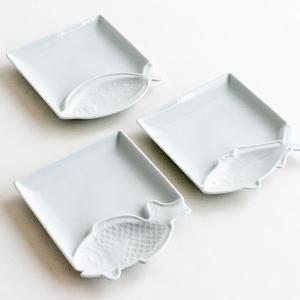 波佐見焼 魚皿 ととざら たい ひらめ あじ 白磁 p10