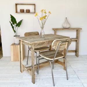 テーブル ダイニングテーブル デスク 木製 リサイクルウッド 送料無料 オイルフィニッシュ ワーキングテーブルの写真
