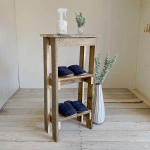 コンソールテーブルミニ2 木製コンソールテーブル 飾り棚 キッチン収納 すき間収納 玄関収納 スリム...