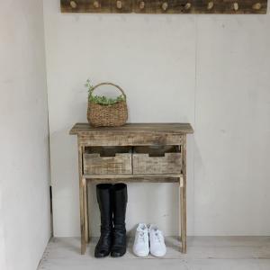 リサイクルウッド エントランスコンソールテーブル26 コンソール 木製テーブル 飾り棚 キャビネット...