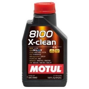 MOTUL(モチュール) 8100 X-clean 5W40 1L 100%化学合成オイル (正規品)|foglio