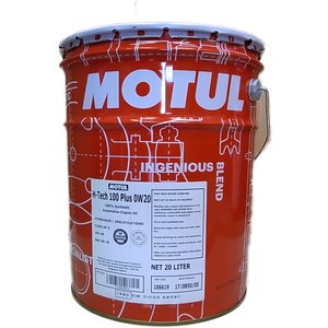 MOTUL(モチュール) H-Tech 100 PLUS SP 0W20 20Lペール缶 100%化学合成オイル (正規品) ※送料が発生します|foglio