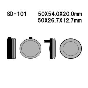 Vesrah(ベスラ) ブレーキパッド SD-101 オーガニック SDレジンパッド|foglio