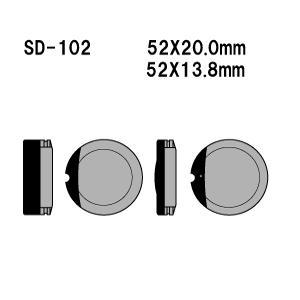 Vesrah(ベスラ) ブレーキパッド SD-102 オーガニック SDレジンパッド|foglio