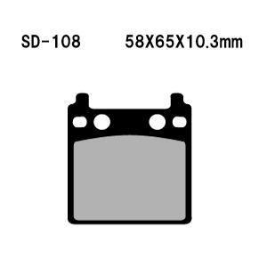 Vesrah(ベスラ) ブレーキパッド SD-108 オーガニック SDレジンパッド|foglio