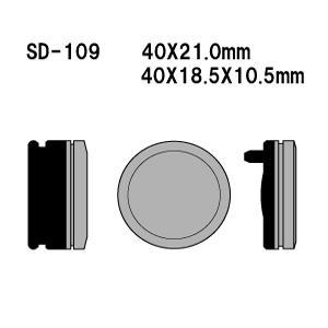 Vesrah(ベスラ) ブレーキパッド SD-109 オーガニック SDレジンパッド|foglio