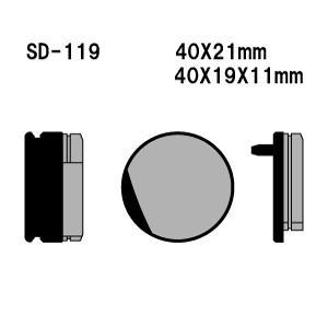 Vesrah(ベスラ) ブレーキパッド SD-119 オーガニック SDレジンパッド|foglio