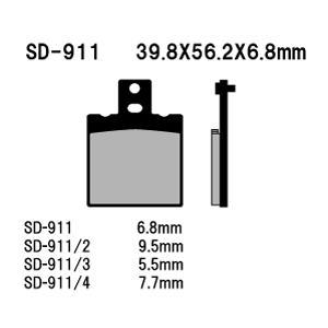 Vesrah(ベスラ) ブレーキパッド SD-911 オーガニック SDレジンパッド|foglio
