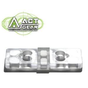 ACT GEAR アクトギア ビンディング 5mmリフトアッププレート ポリカ [PL-10] CLEAR ALPAIN アルペン アルパイン BINDING バインディング スノーボード follows
