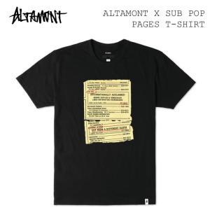 ALTAMONT アルタモント x SUB POP PAGES T-Shirt 半袖Tシャツ オルタモント スケートボードウェア|follows
