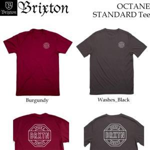 [日本正規品] BRIXTON Tシャツ OCTANE ブリクストン Tシャツ スタンダードフィット 2017|follows