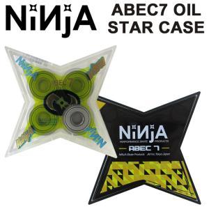 NINJA BEARING ベアリング スケボー ニンジャ ABEC7 オイルタイプ スターケース入...