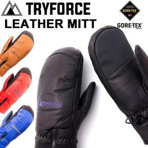 17-18 TRYFORCE トライフォース スノーボードグローブ LEATHER UNDER MITT ゴアテックス GORE-TEX ミット ミトン 継続モデル|follows