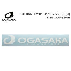 OGASAKA オガサカ スノーボード ステッカー カッティングロゴ M [6] 320mm×62mm STICKER カッティングステッカー|follows
