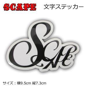 旧モデル SCAPE エスケープ ステッカー[6] 文字 アウトレット|follows
