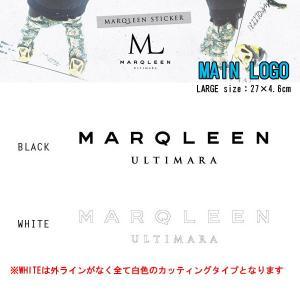 MARQLEEN マークリーン ステッカー MAIN LOGO ステッカー LARGE カッティングスノーボードステッカー|follows