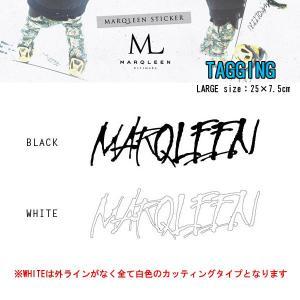 MARQLEEN マークリーン ステッカー TAGGING ステッカー LARGE カッティングスノーボードステッカー|follows
