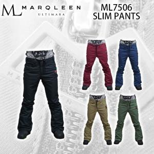 [現品限り特別価格] MARQLEEN スノーボードウェア SLIM PANTS [ML7506] ユニセックス マークリーン スリムパンツ|follows