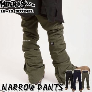 18-19 Mtn. Rock Star マウンテンロックスター スノーボードウェア NARROW PANTS ナローパンツ ユニセックス