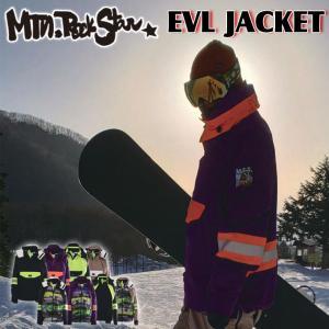 19-20 Mtn. Rock Star マウンテンロックスター スノーボードウェア EVL JACKET エボルジャケット ユニセックス|follows