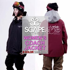 代引料無料 17-18 SCAPE エスケープ  WOMEN'S COACH JACKET GONZ ウィメンズ コーチジャケット レディース スノーボードウェア wear スノーウェア|follows