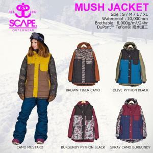 16-17 SCAPE MUSH JACKET マッシュジャケット レディース エスケープ スノーボード ジャケット スノーウェア|follows