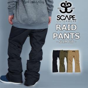 代引料無料 17-18 SCAPE エスケープ RAID PANTS ライドパンツ メンズ スノーボードウェア wear スノーウェア|follows