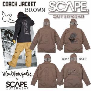 [現品限り特別価格] [旧モデル] SCAPE エスケープ COACH JACKET コーチジャケット ブラウン メンズ ジャケット スノーウェア|follows
