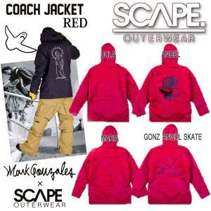 [現品限り特別価格] [旧モデル] SCAPE エスケープ COACH JACKET コーチジャケット レッド メンズ ジャケット スノーウェア|follows