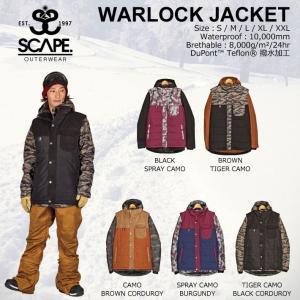 [現品限り特別価格] 旧モデル SCAPE WARLOCK JACKET ウォーロックジャケット メンズ エスケープ スノーボード ジャケット スノーウェア follows