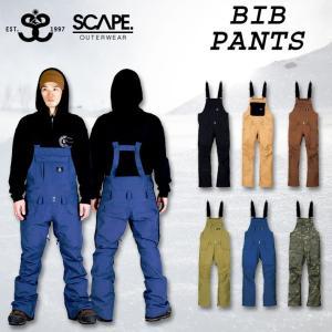代引料無料 17-18 SCAPE エスケープ BIB PANTS ビブ パンツ スノーボードウェア wear スノーウェア|follows