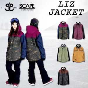 代引料無料 17-18 SCAPE エスケープ  LIZ JACKET リズ ジャケット レディース スノーボードウェア wear スノーウェア|follows