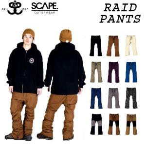 [現品限り特別価格] 旧モデルSCAPE エスケープ RAID PANTS ライドパンツ メンズ スノーボードウェア wear スノーウェア follows