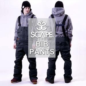 18-19 SCAPE エスケープ BIB PANTS ビブパンツ メンズ スノーボード ボトム スノーウェア follows