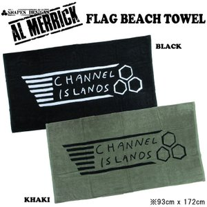AL MERRICK アルメリック FLAG BEACH TOWEL ビーチタオル CHANNEL ISLANDS チャンネルアイランド|follows