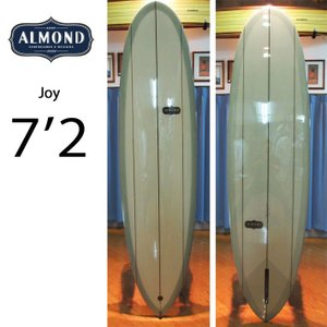 [現品限り特別価格] ALMOND SURFBOARDS アーモンド サーフボード JOY ジョイ 7'2 [5586] ファンボード ミッドレングス Triple Stringer シングルフィン