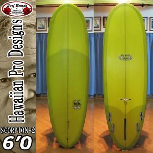 HPD ハワイアンプロデザイン Donald Takayama ドナルドタカヤマ サーフボード SCORPION-2 スコーピオン ツー 6'0 [MOSS GREEN]|follows