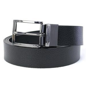 ■ベルト色:ブラック(BLACK×BLACK) ■バックル色:ガンメタ色 ■素材:牛革   ■バック...