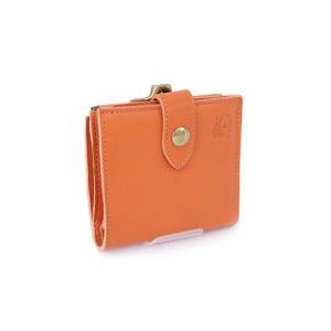 2017年秋冬新作 イルビゾンテ IL BISONTE 財布 レディース 折財布 オレンジ (C1033 P 166 ORANGE)