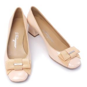フェラガモ 靴 レディース MY Ferragamo マイ フェラガモ 靴 レディース リボン パンプス ピンクベージュ (MY MUSE 40 0574091 PKBE)