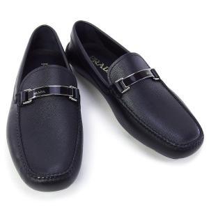 プラダ PRADA 靴 メンズ ドライビングシューズ ローファー ブラック (2DD099 SAFFIANO NERO)