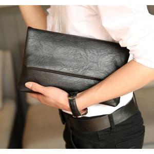 ハンドバッグ メンズ バッグ 鞄 カバン PU革 フェイクレザー おしゃれ 大きい 黒 父の日 ギフト バレンタインギフト|fontier-tokyo