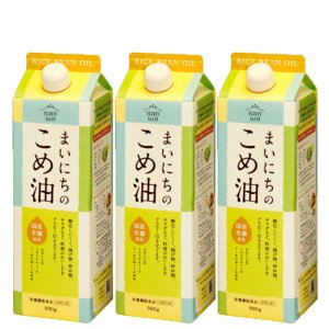 まいにちのこめ油 900g 3本 米油 コメ油 こめ油 こめゆ こめあぶら 三和油脂 山形 ギフト対応可|food-sinkaitekiya
