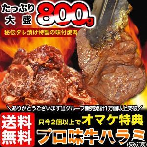 ○2個注文は1個おまけ付きで3個届く○(バーベキュー BBQ 焼肉)ハラミ 柔らか牛ハラミ(サガリ)約800g(タレ込み) 送料無料 冷凍