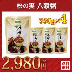 おかゆ レトルト 350g 4個 松の実 八穀粥 七甲農産 韓国食品|foodsup