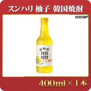 韓国焼酎 スンハリ 柚子 400ml スナリ チョウムチョロム焼酎|foodsup